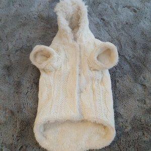 XS Plush Lined Dog Sweater